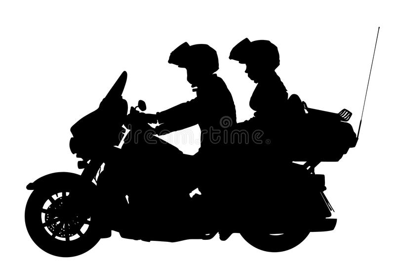 Couple In Love On Motorcycle Vector Silhouette Illustration Safety Riding Concept Stock Illustration Illustration Of Lifestyle Chrome 115256864