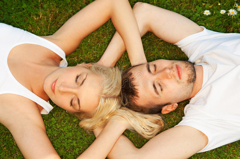 Download Couple in love outdoors stock photo. Image of relaxation - 9999174