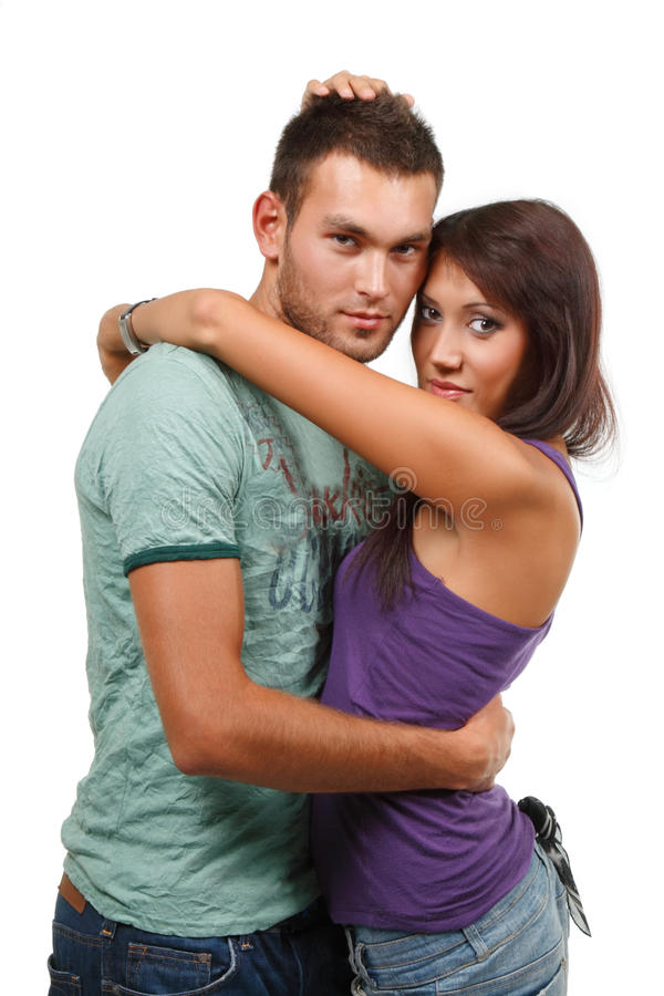 Download Couple In Love Over White Background Stock Image - Image: 13000971