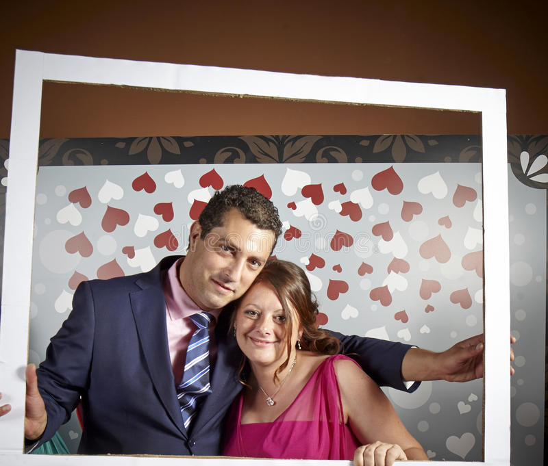 Couple in love photocall stock photo
