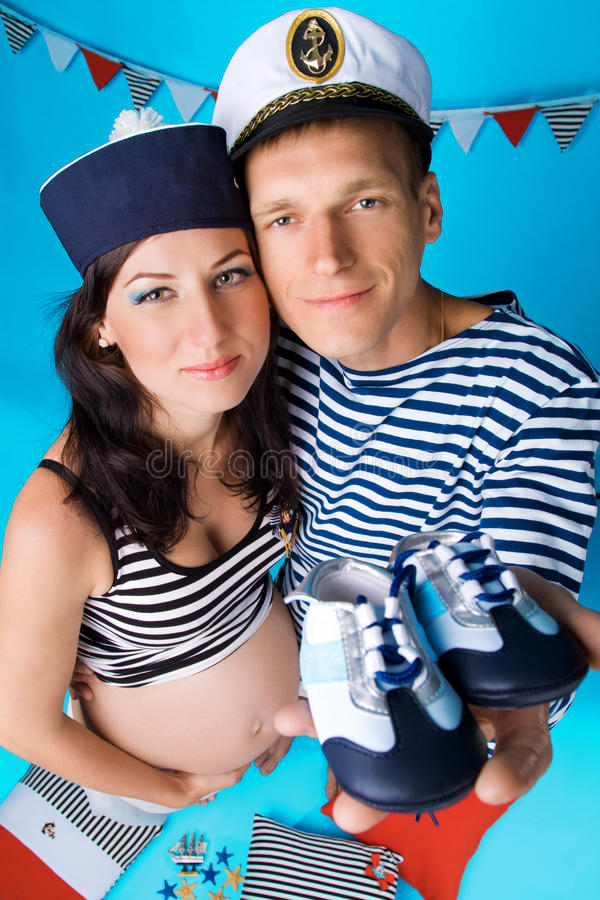 Download Couple In Love During Pregnancy In A Marine Style Stock Images - Image: 25724034