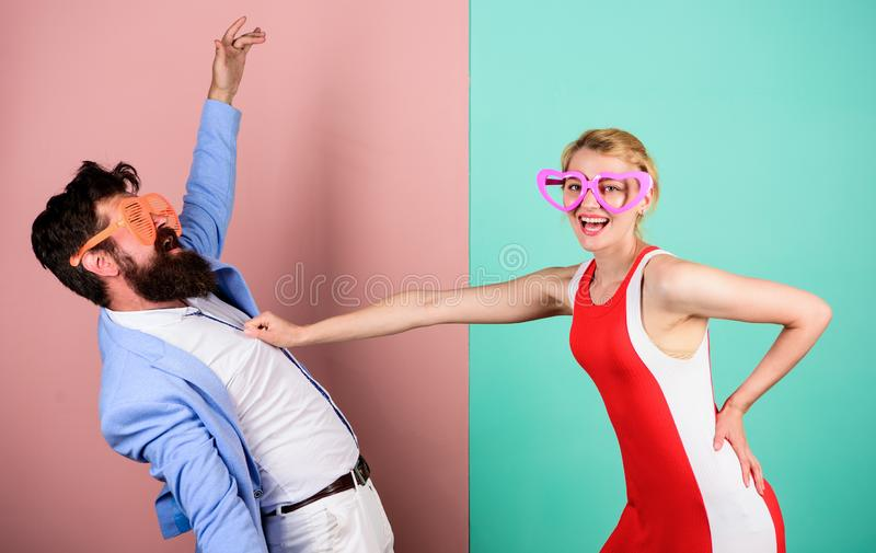 Couple in love. Relations. Frienship of happy man and woman. Hip stock image