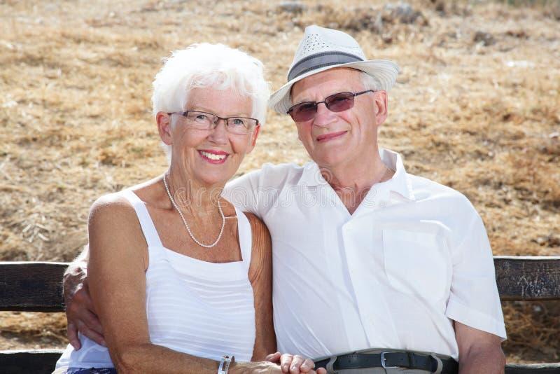 couple love senior στοκ φωτογραφία