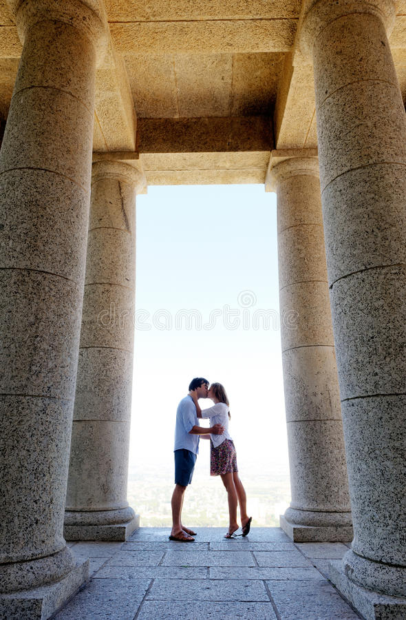 Couple in love show their affection royalty free stock photos