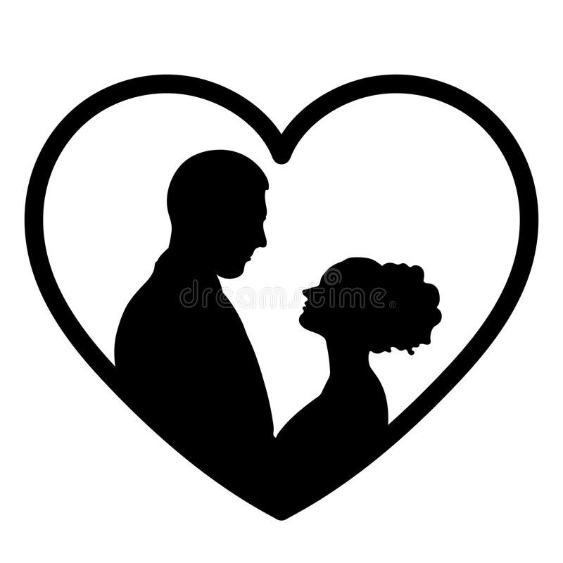 Download Couple In Love Silhouette Vector Flat Icon Logo Bride And Groom Outline