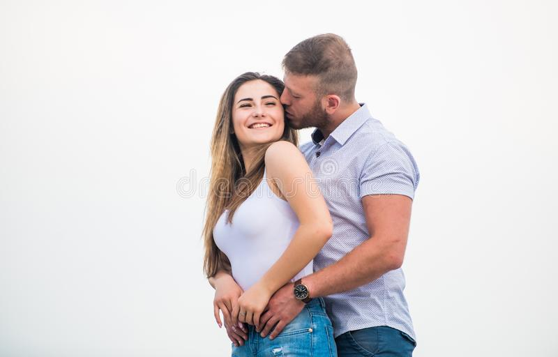 Couple in love. Together forever we two. Love story. Romantic relations. True love. Cute relationship. Man and woman. Couple in love. Together forever we two royalty free stock images