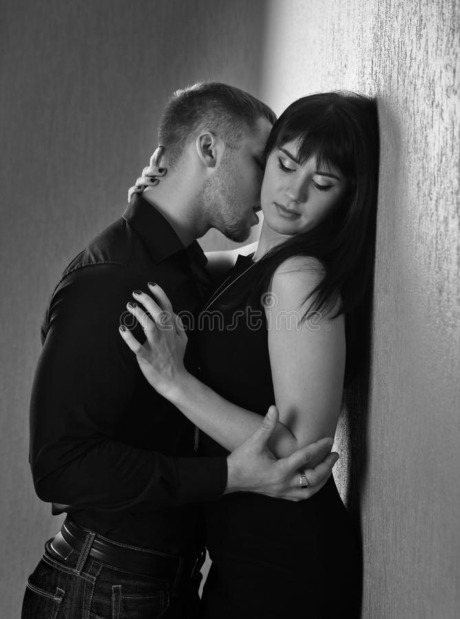 Couple in love. The young beautiful couple in love royalty free stock photo