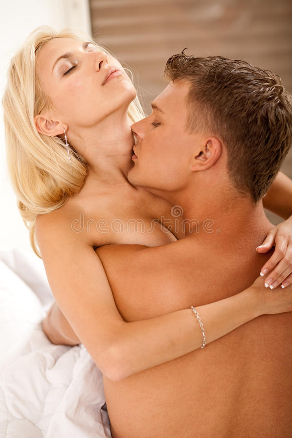 Couple Lovers Passionate Loving And Kissing Royalty Free Stock Images