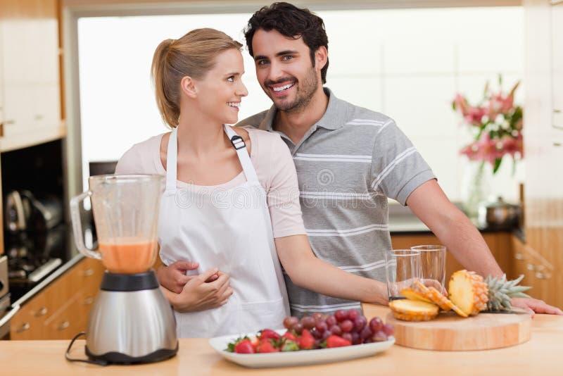 Download Couple Making Fruits Juice Stock Photo - Image: 22235330