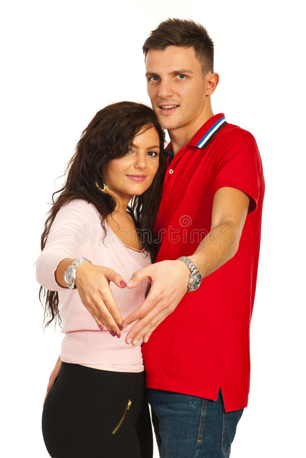 Download Couple Making Heart Shape With Hands Stock Image - Image: 28228411