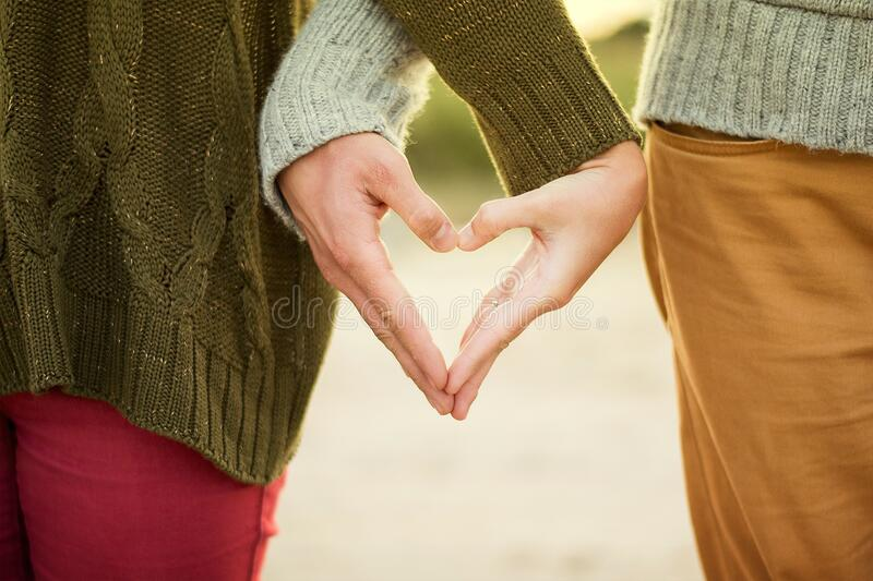 Couple Making Heart Shape With Their Hands Free Public Domain Cc0 Image