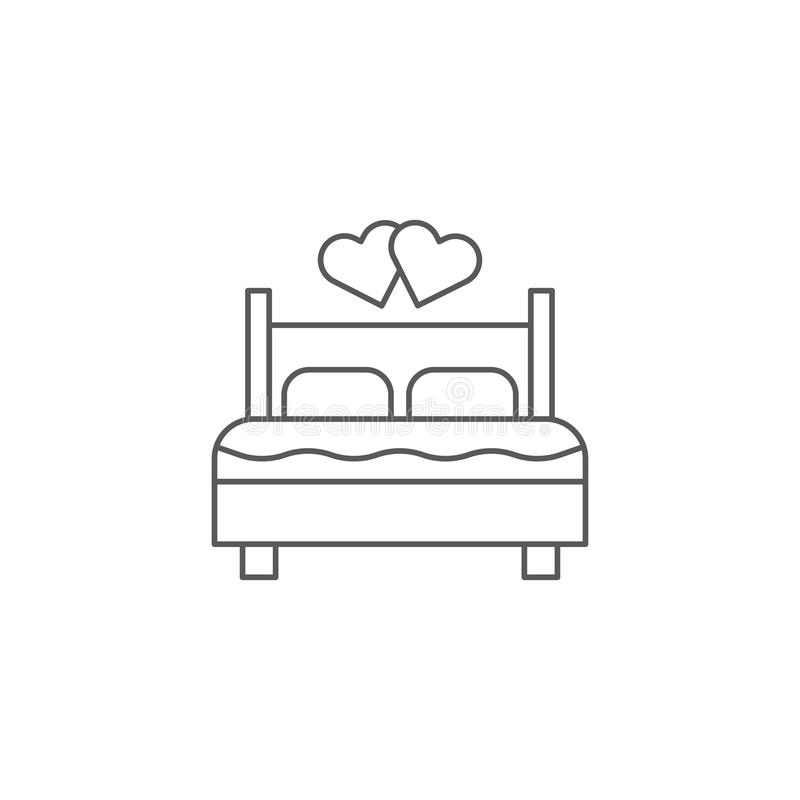 Couple making love bed vector icon symbol isolated on white background vector illustration