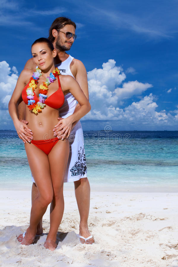Download Couple at Maldives stock photo. Image of island, handsome - 14532478