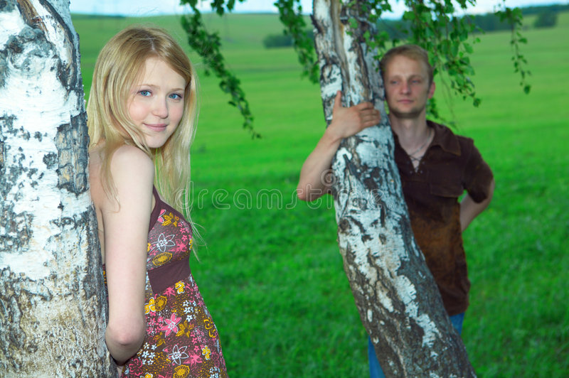 Couple man and woman royalty free stock photos