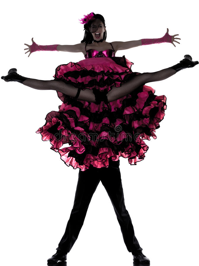 Download Couple Man Woman Dancer Dancing French Cancan Stock Photo - Image: 22991272