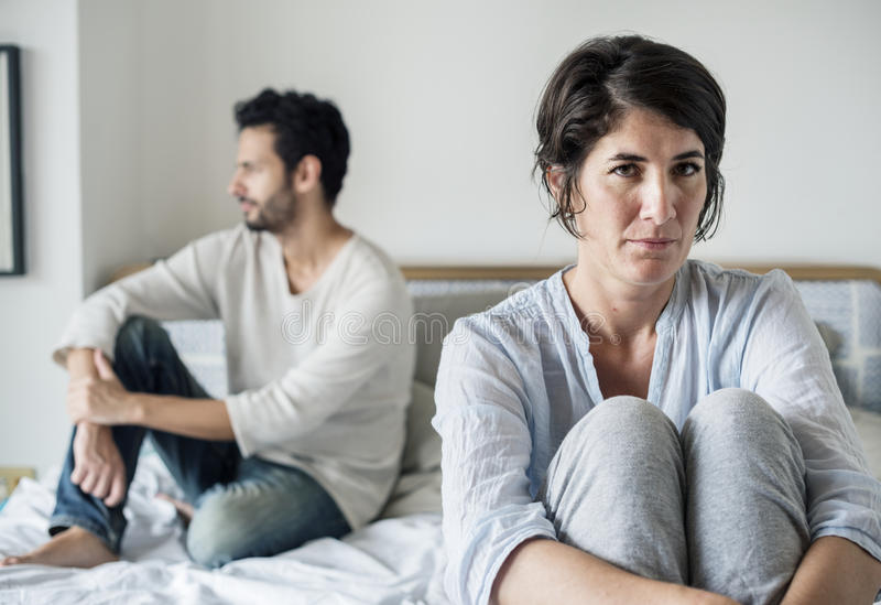 Couple married problem relationship unhappy royalty free stock images