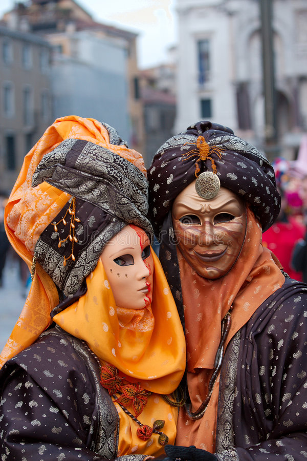 Download Couple Masks In Venice Carnival Editorial Image - Image: 8357810