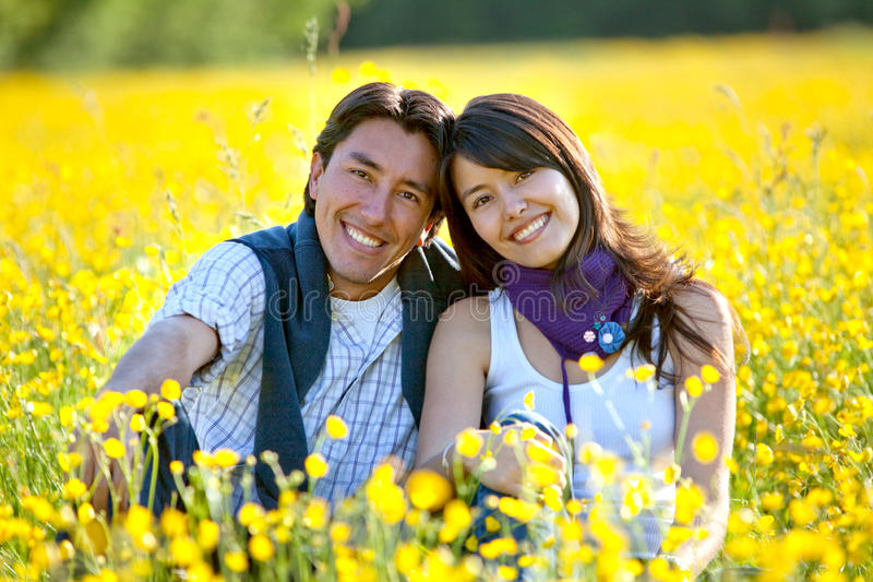 Download Couple at a meadow stock image. Image of person, sister - 12422241