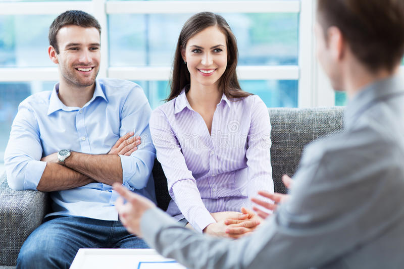Couple Meeting With Consultant Royalty Free Stock Photos