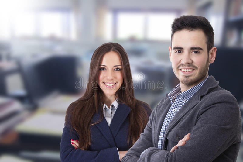 Couple of men and women of business royalty free stock image