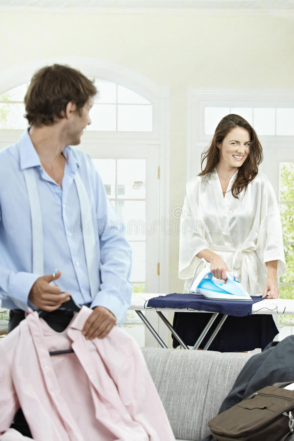Download Couple in the morning stock photo. Image of happy, businessman - 12684576