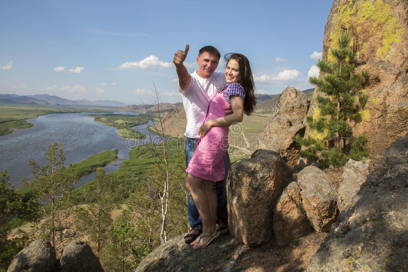 Download Couple In Mountains Royalty Free Stock Photos - Image: 31897368