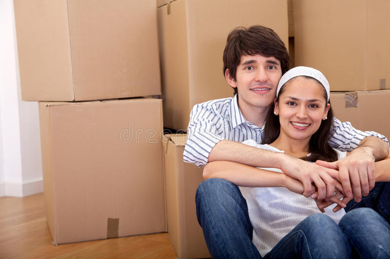 Download Couple moving stock image. Image of person, content, happy - 16798629