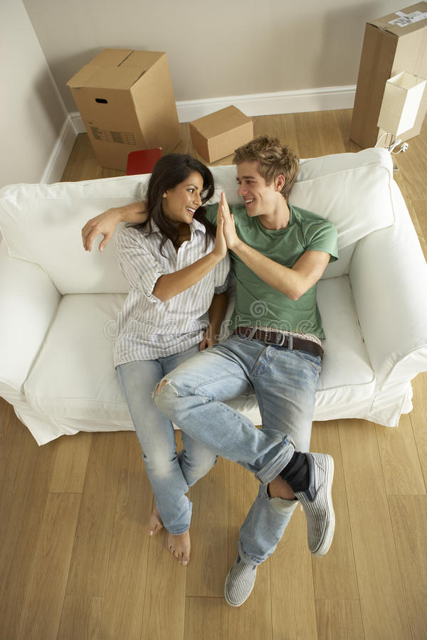 Download Couple Moving Into New Home Royalty Free Stock Photos - Image: 12406998
