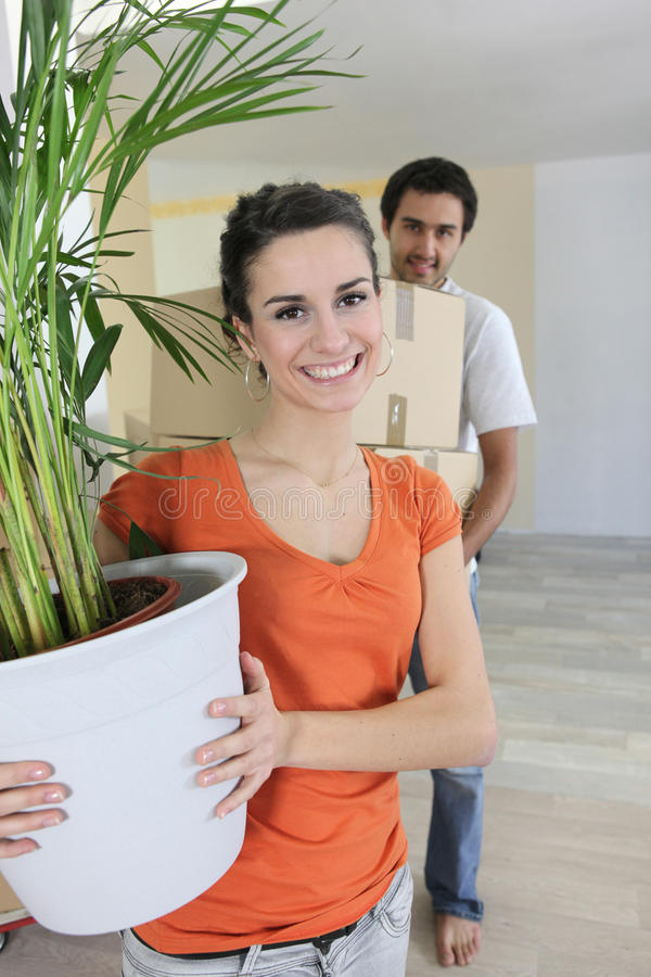 Couple Moving-into New House Royalty Free Stock Photos