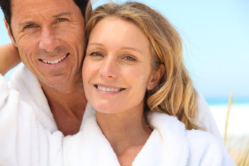 Download Couple near the sea stock photo. Image of sauna, nature - 26500340