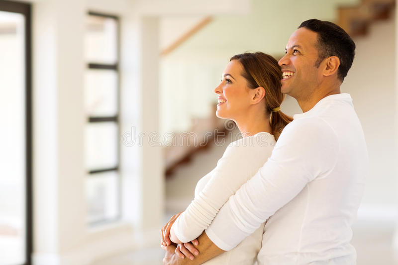 Couple in new home royalty free stock photo