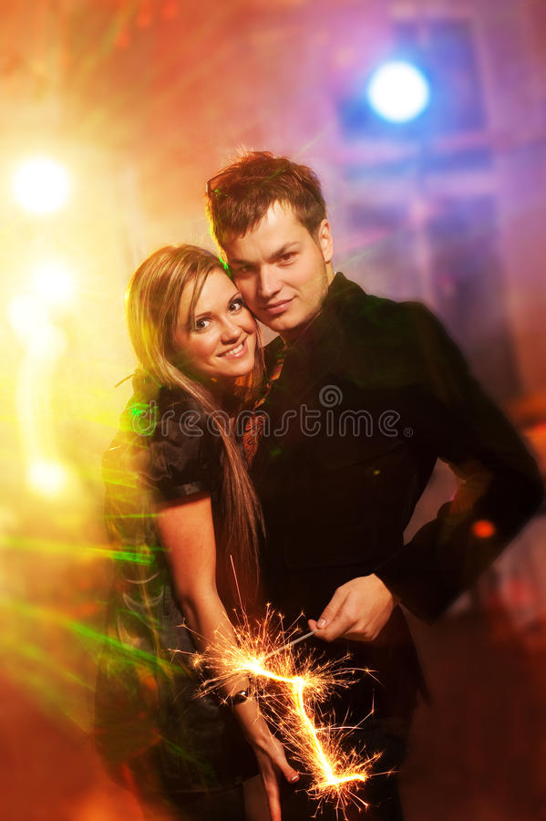 Download Couple in the night club stock image. Image of music - 11542865