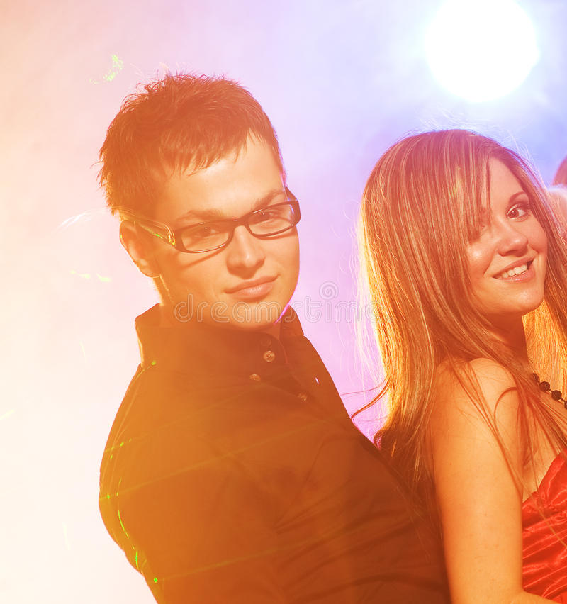 Download Couple in the night club stock photo. Image of lights - 11598472