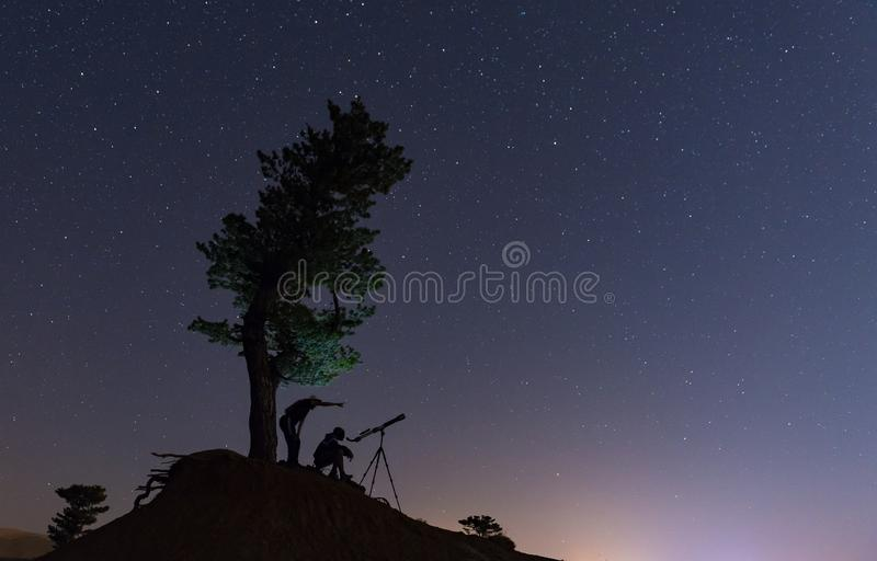Secrets of the sky, mysterious planets and observation stock images