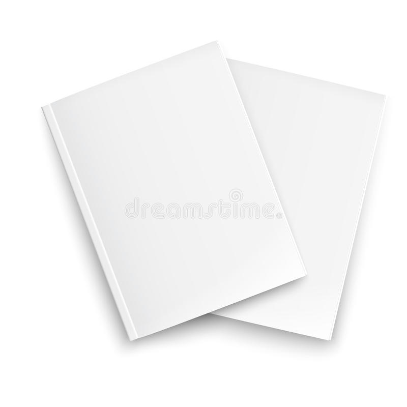 Free Couple Of Blank Closed Magazines Template. Stock Images - 34026564