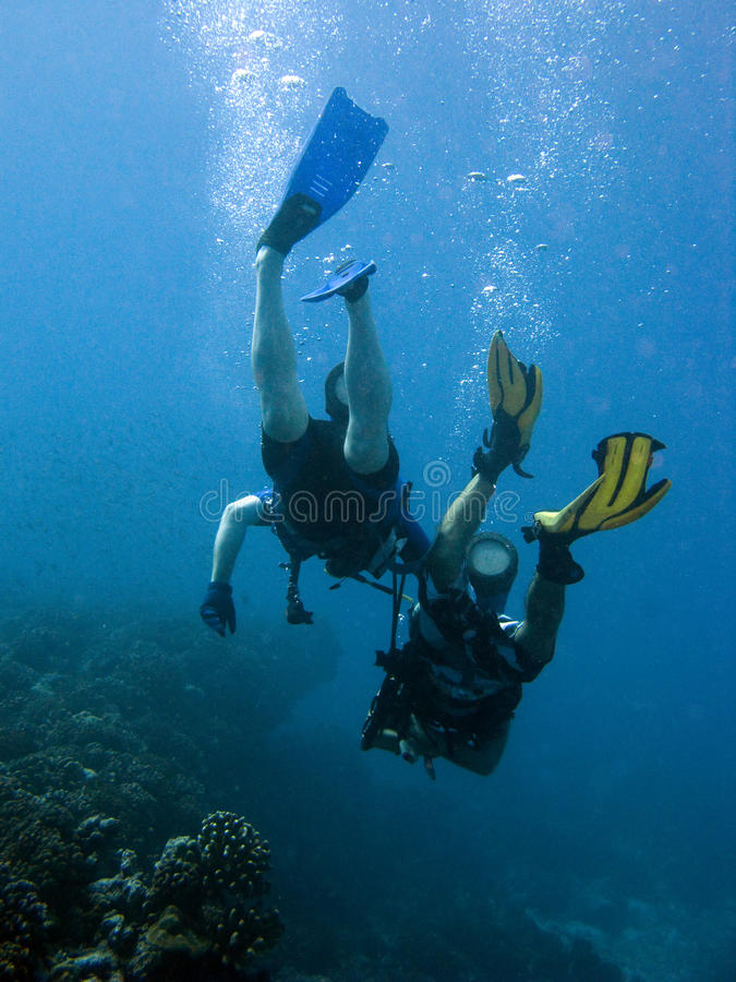 Free Couple Of Divers Royalty Free Stock Photos - 9703308