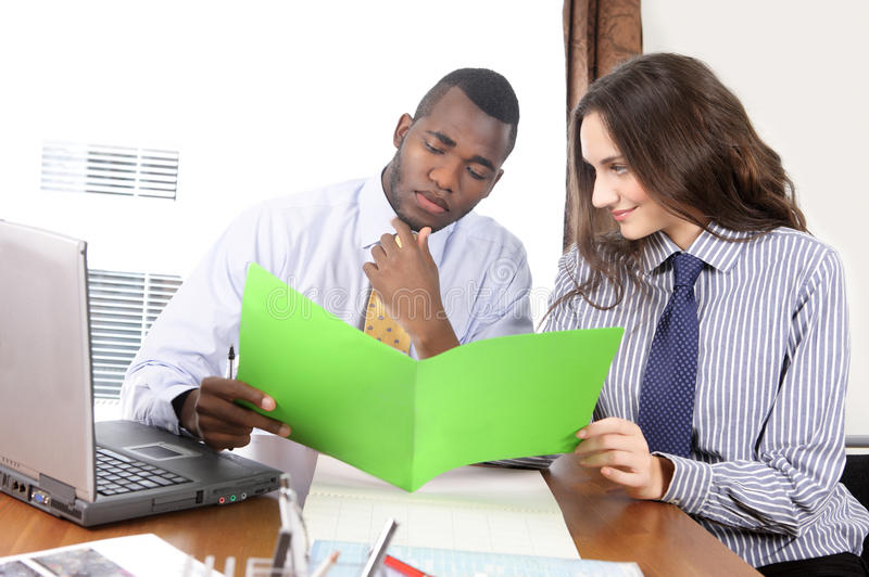 Couple in office royalty free stock photography