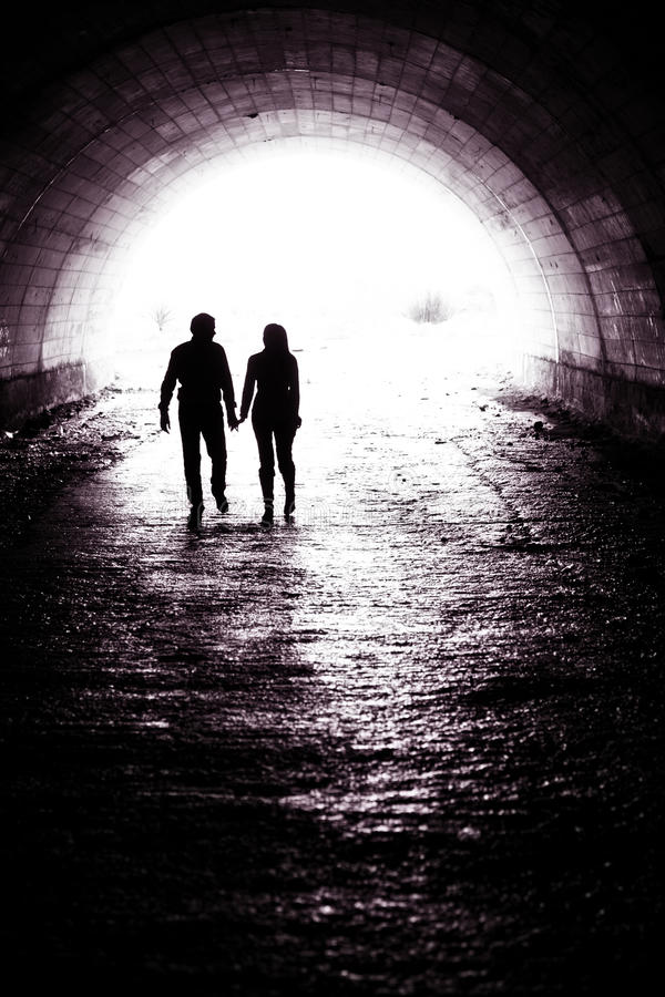 Free Couple On Tunnel Royalty Free Stock Photo - 29554305