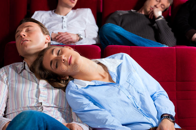 Download Couple And Other People In Cinema Stock Photo - Image of sleeping, lean: 24647958