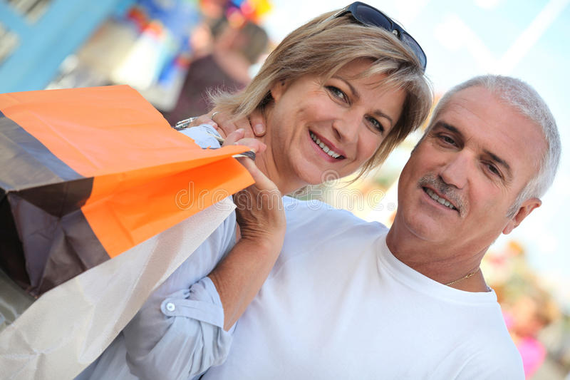 Download Couple out shopping stock image. Image of purchase, enjoyment - 27811945