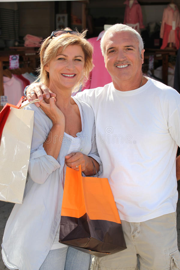 Download Couple out shopping stock image. Image of adult, happy - 27917855