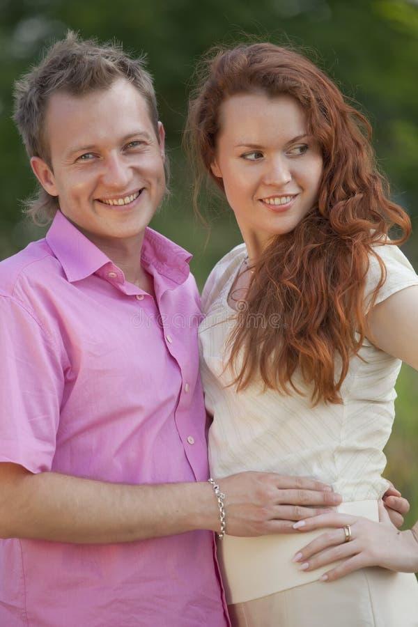 Couple outdoor royalty free stock photos