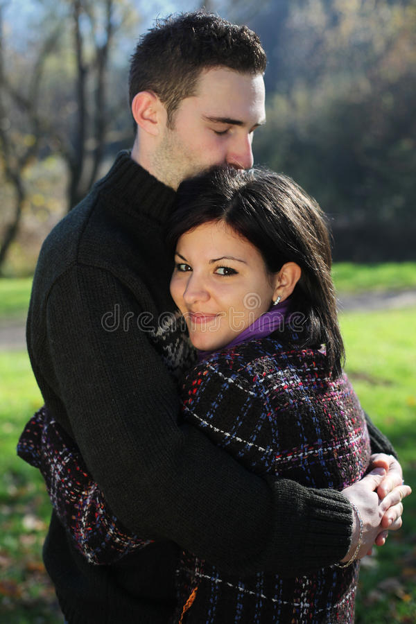 Download Couple outdoor in autumn stock photo. Image of love, embrace - 16857376