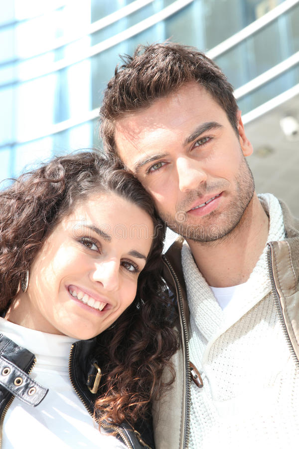Download Couple Outside High-rise Building Stock Image - Image: 25357773
