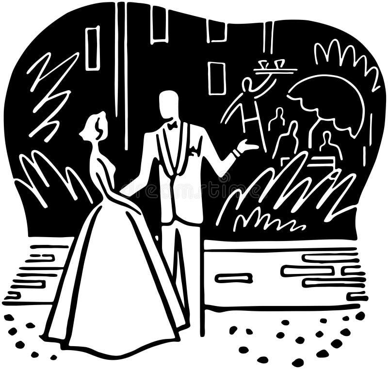 Couple Outside Nightclub vector illustration