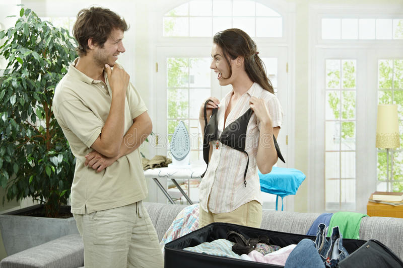Download Couple packing for holiday stock photo. Image of adult - 12544156