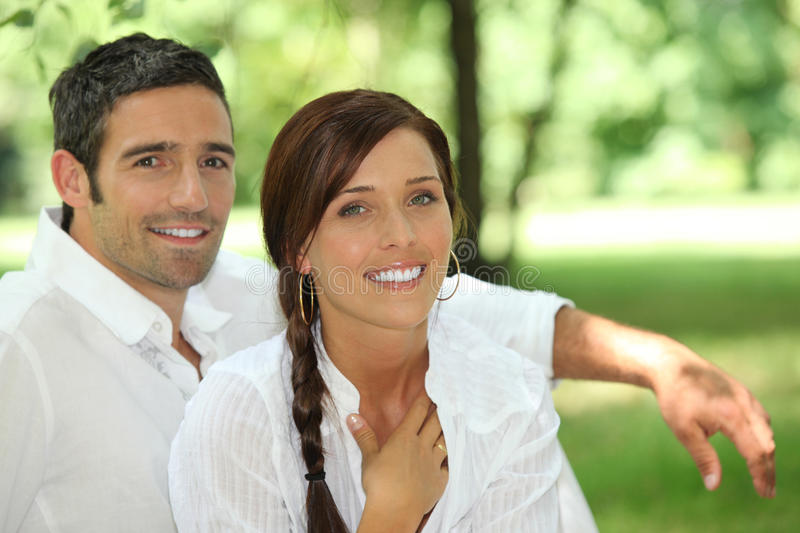 Couple in park royalty free stock images
