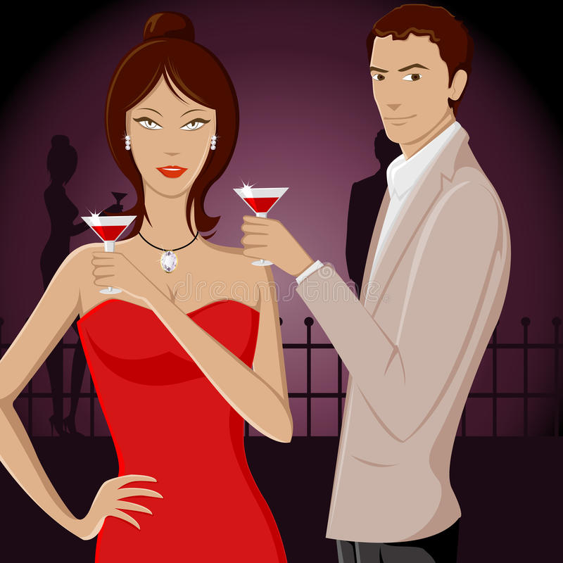 Download Couple in Party stock vector. Image of husband, drink - 18995290