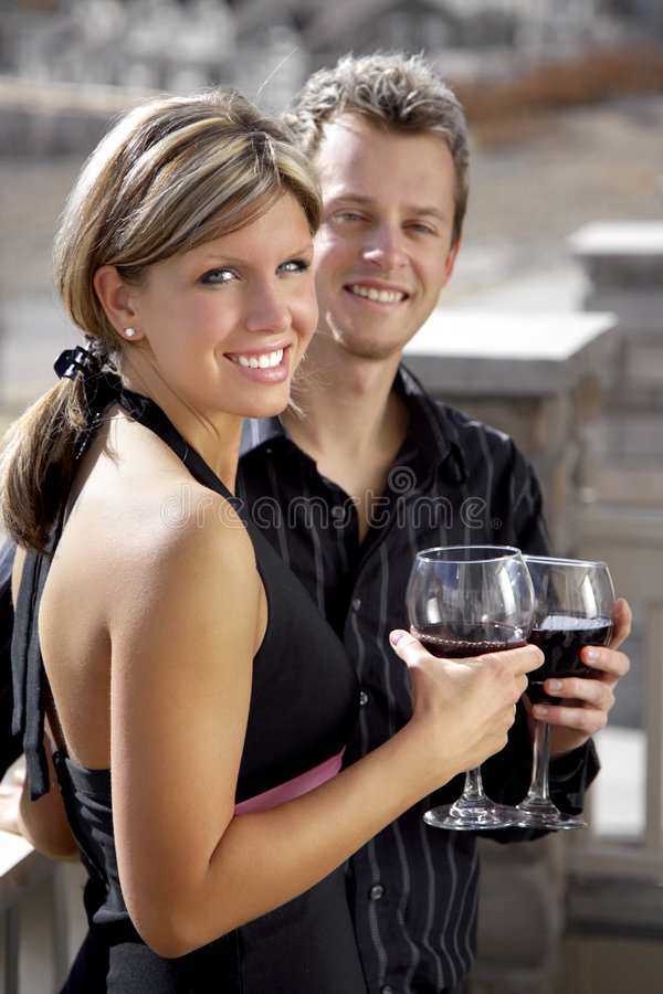 Couple at the Party stock photos
