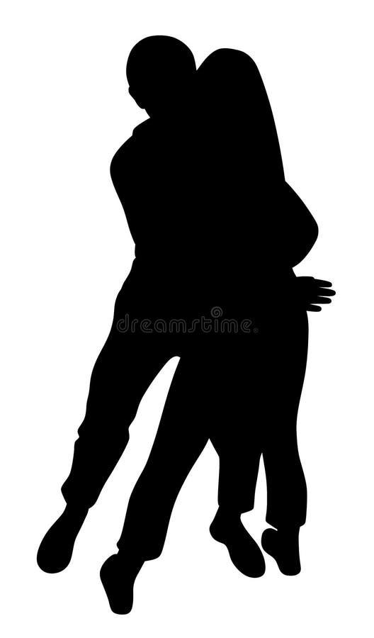 Couple passionately hug stock illustration